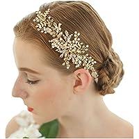 Fascia festa di nozze nuziale fatta a mano con cristalli in foglio d oro c27c89b11901