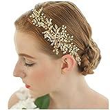 Vintage Kristall Strass Vine Haarbänder Blume Blätter Haarschmuck Hochzeit