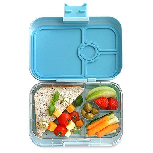 Yumbox Panino M Lunchbox (mit 4 Fächern, Liberty Blue) – Brotdose mit Unterteilung | Bento Box mit Trennwand Einsatz | Brotbox für Kindergarten Kinder, Schule & Arbeit