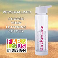 Personalised Love Water Bottle Island Inspired PRIME 740ml With Fruit Infuser and straw Add ANY Name