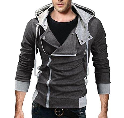 WSLCN Homme Blouson à Capuche Slim Fit Veste Décontractée Manteau Chaud  Sweat à Capuche Manga Japonais 357180505df
