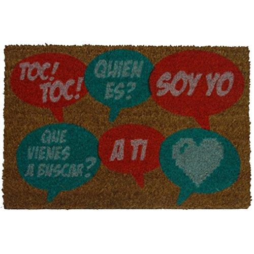 koko doormats Felpudo con Diseño TOC Bocadillos, PVC, Coco, 60 x 40 c