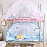 XGYUII Moskitonetz-Betthimmel-Zelt-faltbares Studenten-Schlafsaal-Abwehrmittel-Insekt knallen Oben für das Bett-kampierende Reise-Haus im Freien,Blue,1.2 * 1.9m