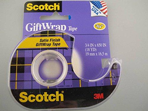 3 M Scotch Satin Finish Geschenkpapier, 19 mm x 16,5 M mit Spender -