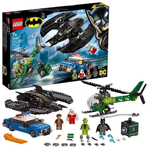 LEGO Super Heroes - Batwing de Batman y el Asalto de Enigma Juguete de Aventuras de Superhéroes, incluye Minifigura del Comisario Gordon y Shazam, Novedad 2019 (76120)