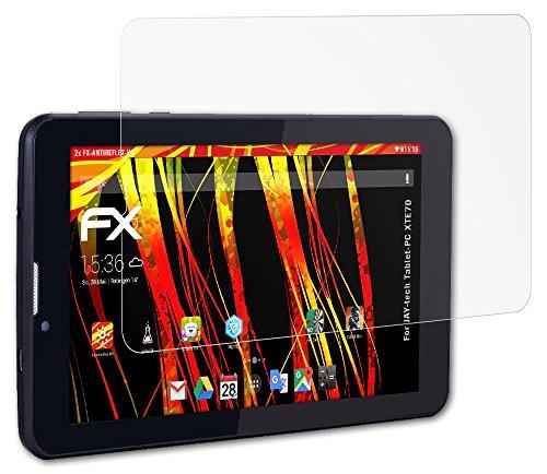 Preisvergleich Produktbild 2 x atFoliX Folie JAY-tech Tablet-PC XTE7D Displayfolie - FX-Antireflex-HD Entspiegelung für hochauflösende Displays