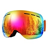 BFULL Men and Women OTG Ski Goggles, Anti-fog,...