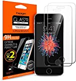 **2-Pack** iPhone SE / 5s / 5 / 5c Screen Protector, Spigen® **Easy-Install Kit** [Ultra-Clear] [Tempered Glass] iPhone 5s Screen Protector SGP10111