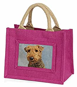 Airedale Terrier Dog Little Girls Small Pink Shopping Bag Christmas Gift