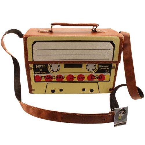 "Superfreak® Tasche ""Kofferradio – Kassette"" Tape°Boombox°Radiotasche, alle Farben braun"