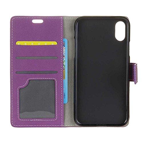 Hülle Für iPhone X, PU Leder Etui Hülle im Bookstyle Handy Tasche für iPhone X Schutzhülle Schale Flip Cover Wallet Case (KW-05#) KW21#