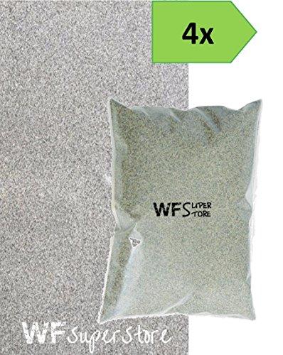 Sabbia silicea sabbiatura prato - 4 sacchi da 25 kg - top dressing giardino