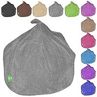 Kids & Childrens Beanbag Soft & Snuggly Chair Bean bag (Grey)