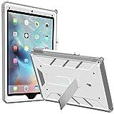 """iPad Pro 12,9 Handyhülle, POETIC Revolution [Prämium extrastabil] 12,9"""" iPad Pro Handyhülle Schutzhülle mit [Standfunktion im Querformat] [Stoßabweisend & staubabweisend] Polycarbonathülle vorne mit Displayschutz für Apple iPad Pro 12,9 Weiß/Grau (3 Jahre Herstellergewährleistung von Poetic)"""