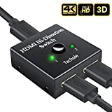 HDMI Switch Techole HDMI Splitter Bi-direction 2 In 1 oder 1 In 2 Manuell HDMI Switcher Unterstützt HD 4K 3D 1080P für Xbox / PS4 / HDTV/Blu-Ray/DVD / DVR Player usw.