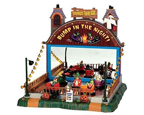 Lemax - Bump in the Night - 26cmx26,50cmx29cm - Animierte Autoscooter Bahn mit Sound - Halloween Village - Spooky Town - Dorf