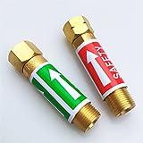 """Rückschlagklappen, Sauerstoff Acetylen/Propan / MAPP/Propylen / Kraftstoffsicherheitsventil, Flammenbrecher (Torch End: BSP3/8"""" (BSP9.525in))"""