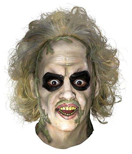 Beetlejuice Ovrhd Latex Maske Halloween Kostueme Maske Gesicht Maske Over-the-Head-Maske Kostuem Stuetze Scary Creepy Schreckliche Maske Latex Maske fuer Maskerade Make-up Party (Damen Beetlejuice Kostüme)
