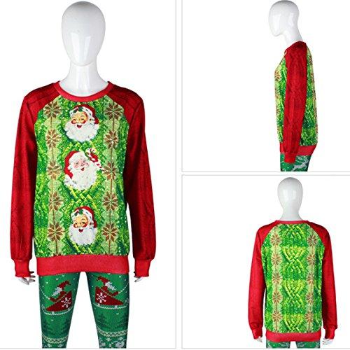 Belsen Damen Sweatshirt schwarz baum X-Large Santa Claus prints