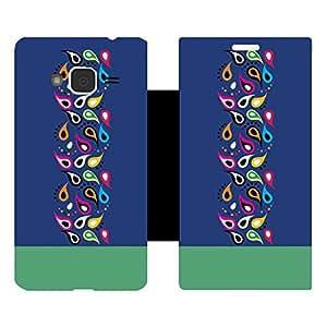 Skintice Designer Flip Cover with Vinyl wrap-around for Samsung Galaxy J3 (2016), Design - Peacock Feather