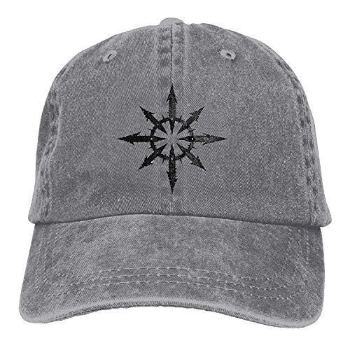 Chaos Star Arrow Symbol Classic Cotton Dad Hat Adjustable Plain Cap Custom Denim Baseball Cap for Adult