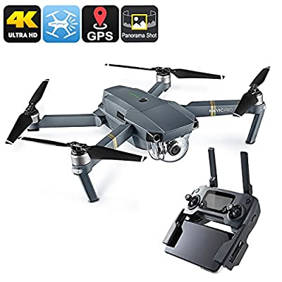 Generic Dji Mavic Pro Camera Drone - Gps/Glonass, Folding, 4 Mile Range, 4K Camera, 27Min Flight Time, 65Kmh, Fpv