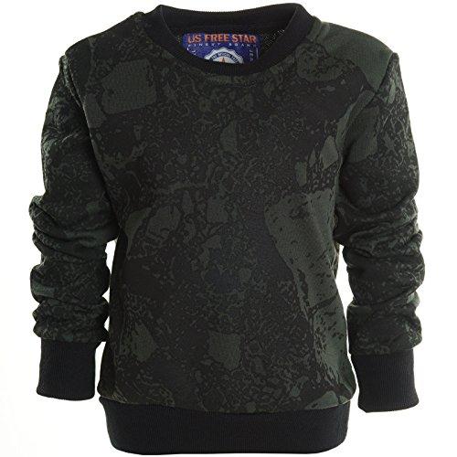 Jungen Kinder Rundhals Pullover Hoodie Sweat Shirt Jacke Langarm Winter 20809