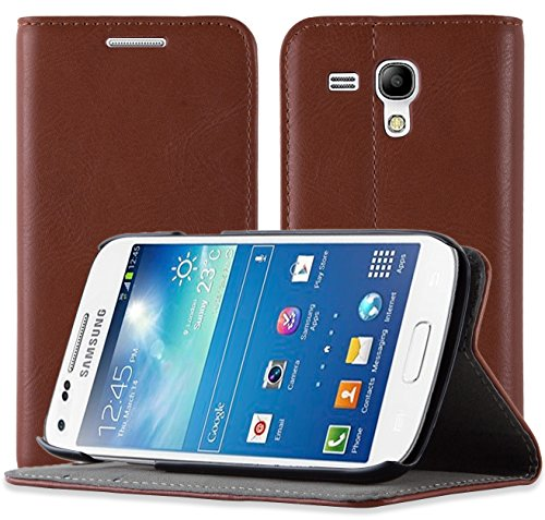 JAMMYLIZARD Custodia Portafoglio per Samsung Galaxy S3 Mini | Cover a Libro Swiss Wallet Flip Case in Pelle, Marrone