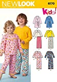New Look Schnittmuster 6170–Kleinkinder und Kinder Schlafanzüge Größen: 1/2–8