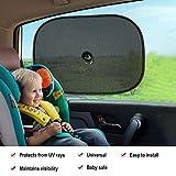 HEQUN 2 Pièces Auto adhésif pare-soleil de voiture pour Enfant Protection - Blocage...