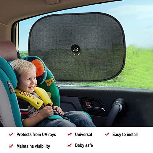 Trcuk Blocage des Rayons Ultraviolets Nocifs et Chaleur SUV Convient /à Voiture Enfant Audew 4 x Adh/ésif Pare-Soleil de Voiture Protection des Fen/êtres Lat/érales et Arri/ère pour Protection B/éb/é