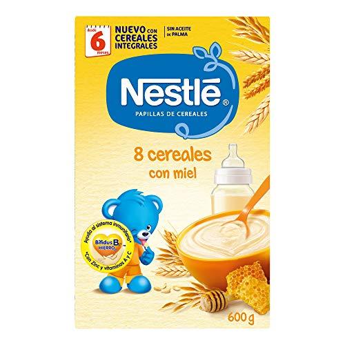 Nestlé - Papillas 8 Cereales Con Miel A Partir De