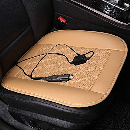 Xljh Auto Riscaldamento Sedile Cuscino Inverno Calda termoregolatore Riscaldamento Automatico 12V universale30 Secondi di Riscaldamento rapido,Beige