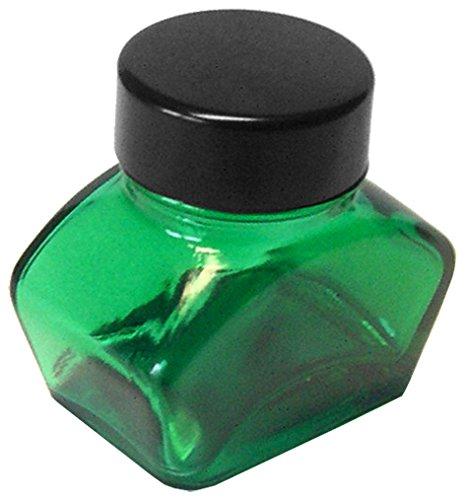 Tintenglas 30 ml leer, grün