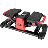 Stexh Stepper with Power Ropes Stepper Step Home Mute Weight Loss Machine in situ Mountaineering Machine Multi Function Device Mini Pedal Machine Slim Legs Up Down Fitness Stepper with Multi-Function Display