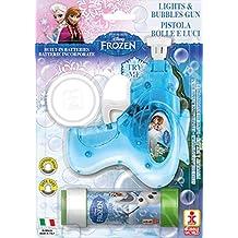Frozen - Pistola pompas con sonido y luz con tubo, 60 ml (Dulcop 69500087000)