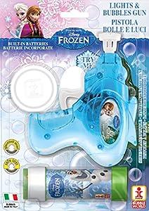 Frozen- Pistola pompas con Sonido y luz con Tubo, 60 ml (Dulcop 69500087000)