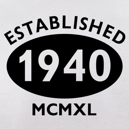 Gegründet 1940 Römische Ziffern - 77 Geburtstag - Herren T-Shirt - 13 Farben Weiß