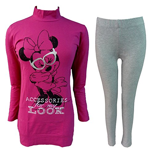 Minnie pigiama donna maxi blusa con leggings in caldo cotone disney (fuxi, 42/s)