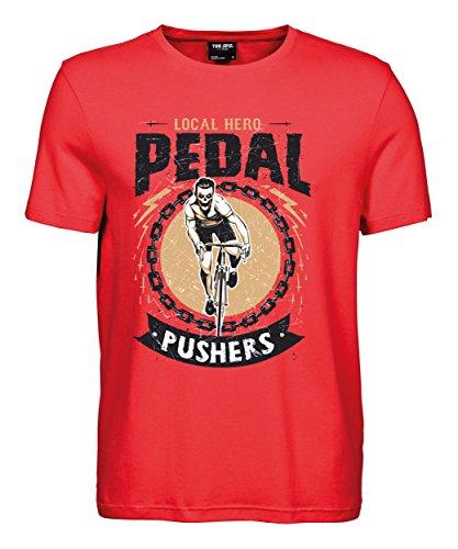 makato Herren T-Shirt Luxury Tee Pedal Pushers Coral