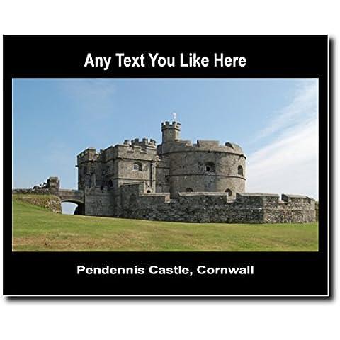 Castello di Inghilterra Pendennis Cornovaglia, in acrilico, misura media, da parete (Castello Pendennis)