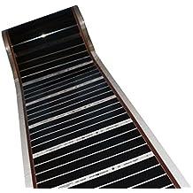 Larghezza 50 cm, 1.5m 220W//mq con cavi collegati per riscaldamento a pavimento elettrico Infrarossi pellicola riscaldante 220V