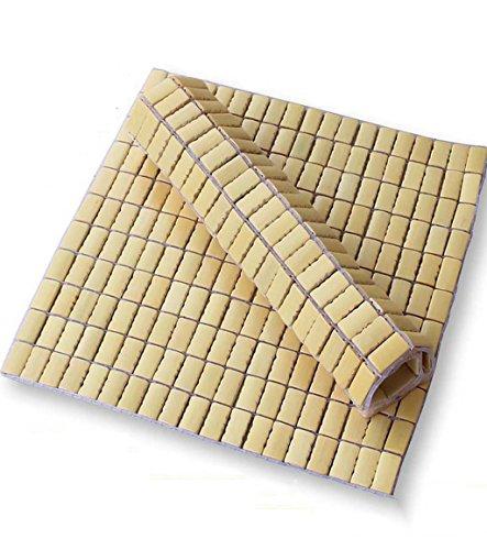 CAIJUN 2 Stück Mahjong Kissen Computer Stuhl Kissen Sommer Sofa Matten Auto Bambus Kühler Büro Stuhl Kissen Pflanzen-Pad ( größe : 45*45cm )