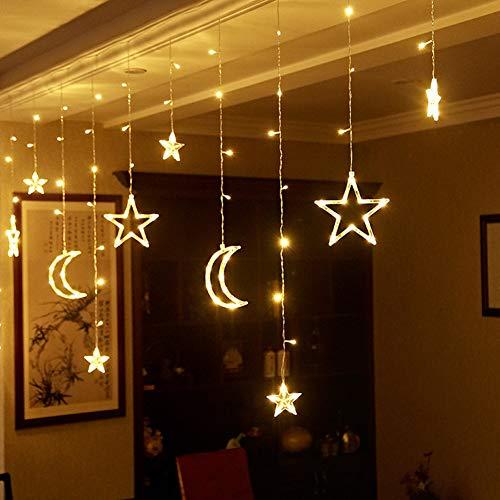 KCD Star Moon Fensterlampe, LED Lichterkette USB