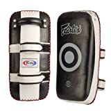 Fairtex Muay Thai MMA Kickboxing Training Curved Standard Kick Pads (Pair)