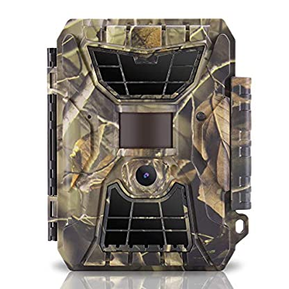 WingHome Trail Camera, 24MP 1080P FHD Game Camera With Night Vision For Wildlife Hunting, 65ft Motion Activated Camera, 42pcs No Glow Infrared LED, IP66 Waterproof IR Video Hunt Cam