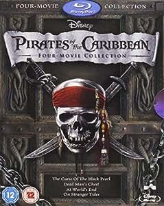 Pirates of the Caribbean 1-4 Box Set [Blu-ray]