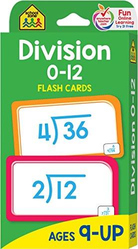 Preisvergleich Produktbild School Zone Flash Cards-Division 0-12 52 / Pkg