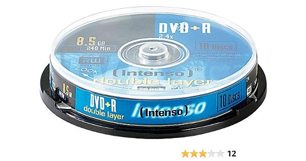 Intenso 45725 Dvd R 8 5 Gb Double Layer 10 Stück Elektronik