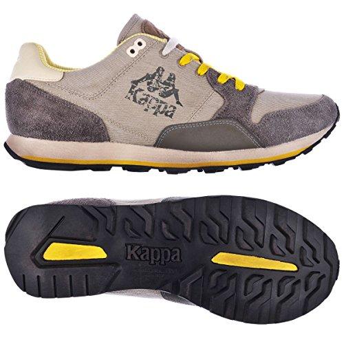 KAPPA AUTHENTIC DERSAN - Brown Mud-Yellow BROWN MUD-YELLOW